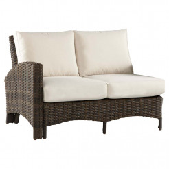 south sea rattan panama left arm facing wicker loveseat