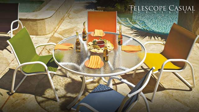 Telescope Casual Gardenella Sling 4-Person Dining Set