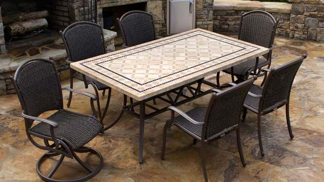 Tortuga Outdoor Marquesas 7 Piece Wicker Dining Set