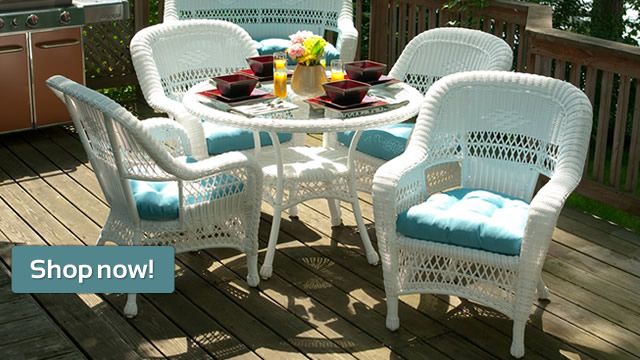 Avalon Wicker Dining Set - Ships Within 1 Week! Only $1399!