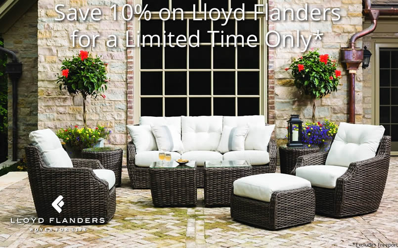 Save on Lloyd Flanders Wicker Furniture at Wicker.COM