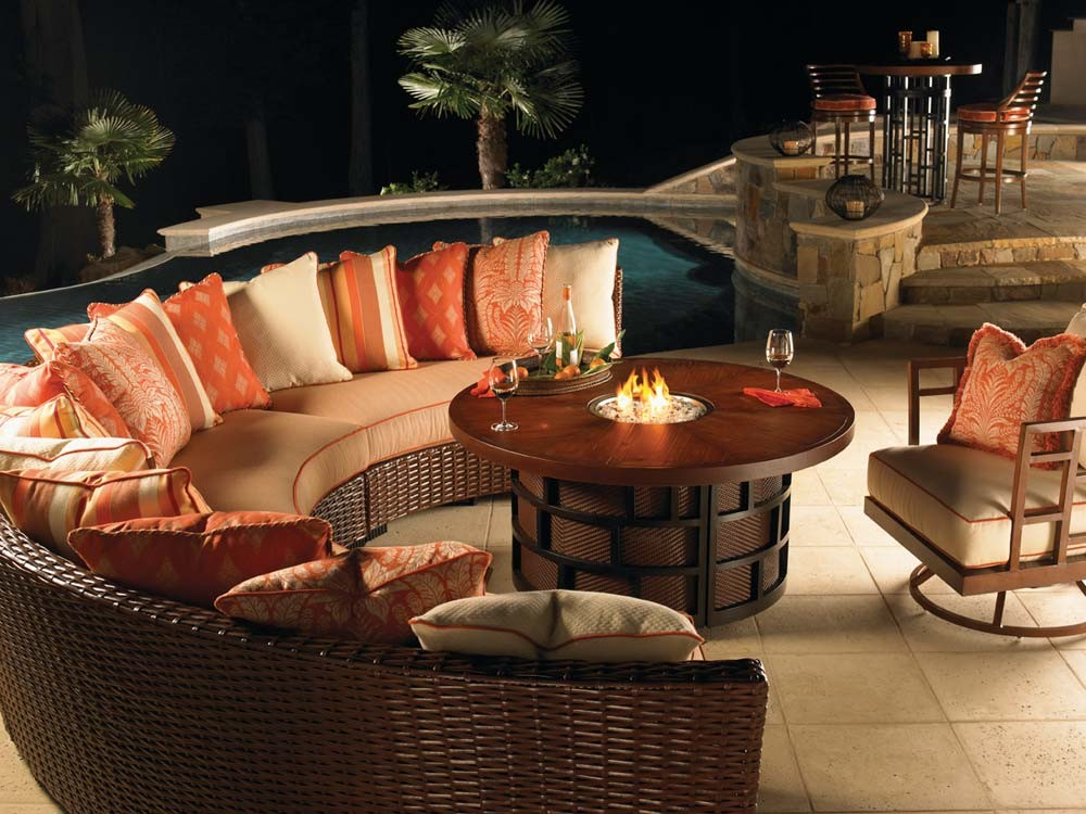 Fire Pit Table Wickercom Wickercom - Resin wicker fire pit table