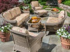 Patio Wicker Furniture Seating Groups