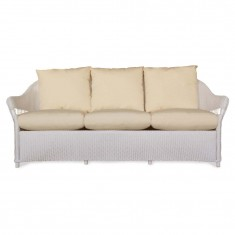 White Wicker Patio Sofas